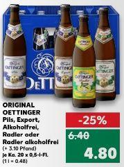 [Kaufland ab 20.11.] Oettinger Pils, Radler, Alkoholfrei, Export, Radler Alkoholfrei 20*0,5l