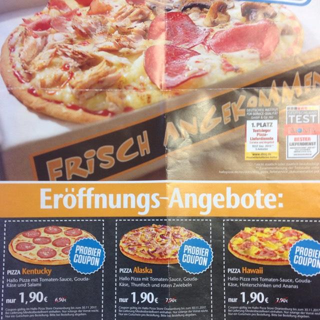 Lokal Oranienburg Hallo Pizza