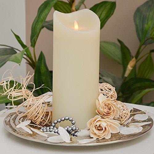 TRONJE 23cm Echtwachs LED Kerze