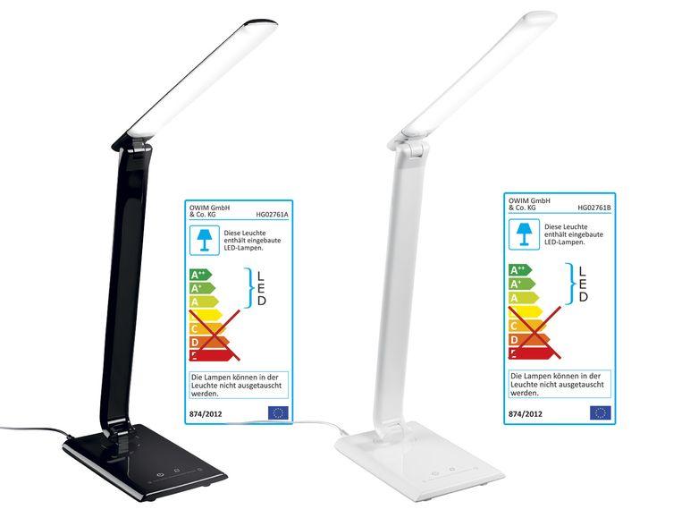 LIDL [On- und Offline] LIVARNO LED-Tischleuchte; Warm- bis Kaltweiß 7-stufig Dimmbar und USB-Anschluss
