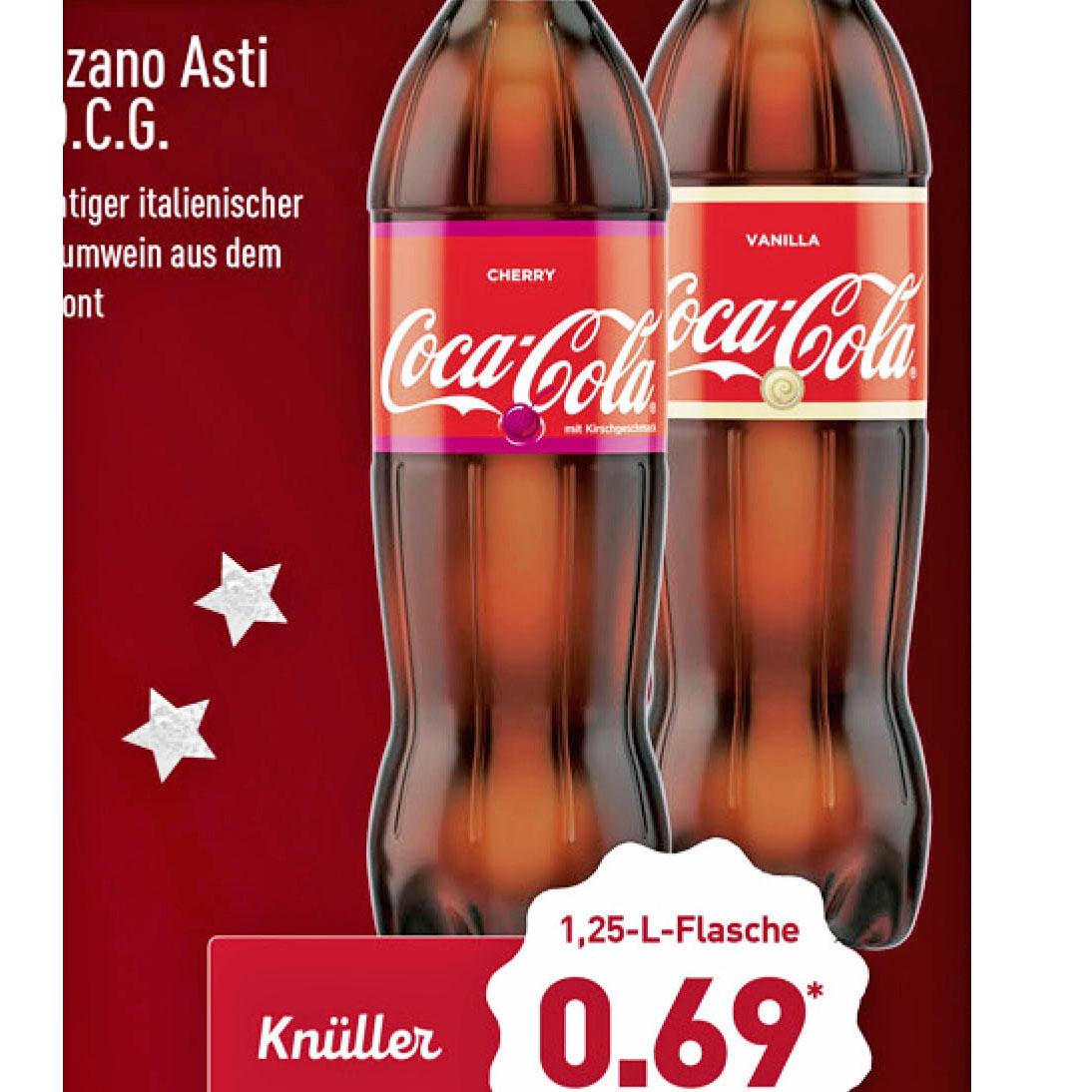 Alles was klebt, Coca Cola Vanilla / Cherry sowie Tesa-Film und Tesa-Sekundenkleber bei (Aldi Nord)