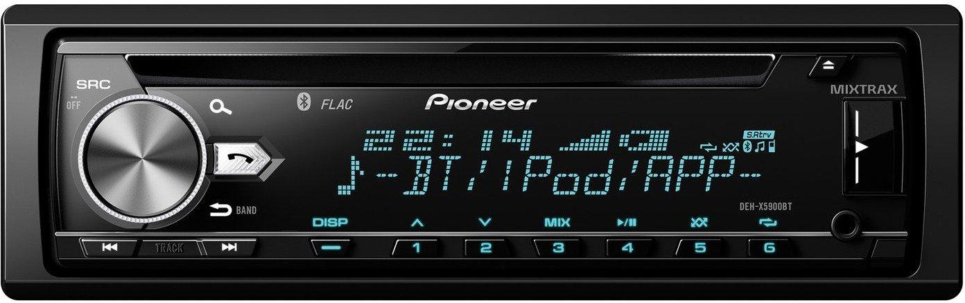 Pioneer DEH-X5900BT Autoradio (integrierter CD-Tuner, Bluetooth, Multi-Color Tastenbeleuchtung) Schwarz für 69,99€ versandkostenfrei [Saturn Late Night Shopping Special]