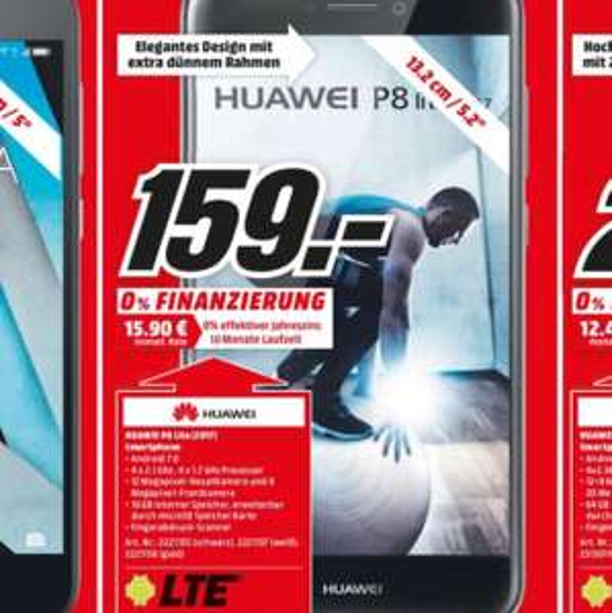 Lokal MM Köln Huawei P8 Lite 2017 für 159€ und Honor 6A für 111€