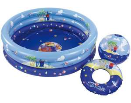 Käpt'n Blaubär - 3tlg. Pool-Set (Planschbecken, Ball, Schwimmreifen) für €8,99 [@MeinPaket.de]