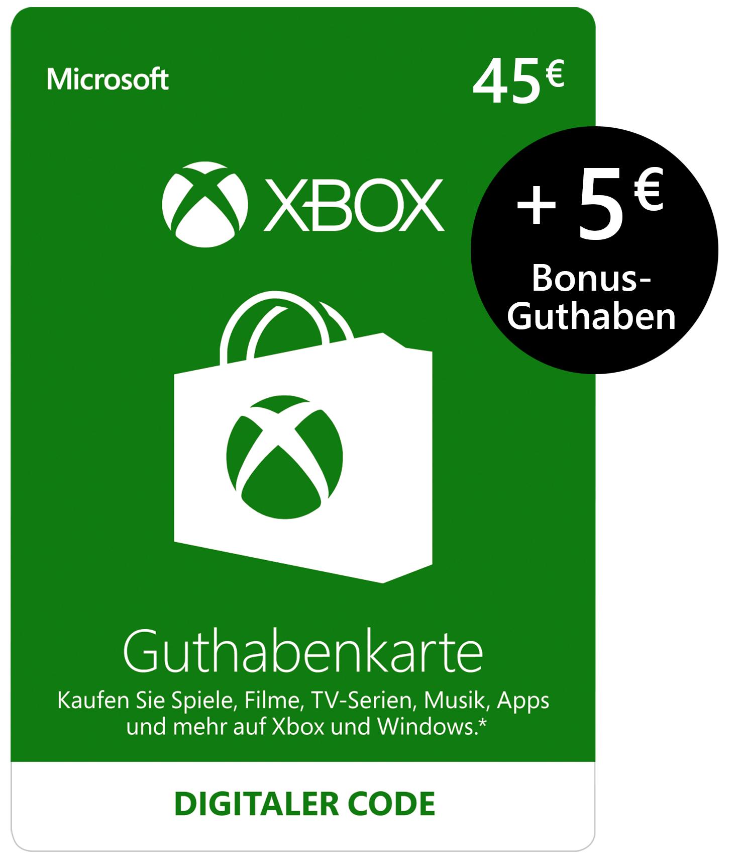 45€ XBOX Live Guthaben mit 5€ Gratis