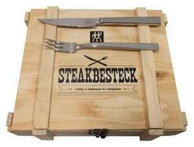 Zwilling Steakbesteck 12-teilig in Holzkiste für 24,56€ (eBay Plus)