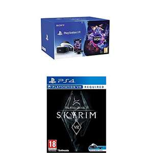 PlayStation VR Brille + Playstation 4 Kamera + VR Worlds + Skyrim VR für 284€ (Amazon.co.uk)
