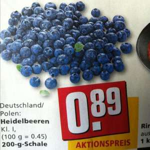 [REWE] Heidelbeeren 200g 0,89€ !!