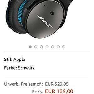 [Amazon.de] Bose QuietComfort 25 Acoustic Noise Cancelling Kopfhörer