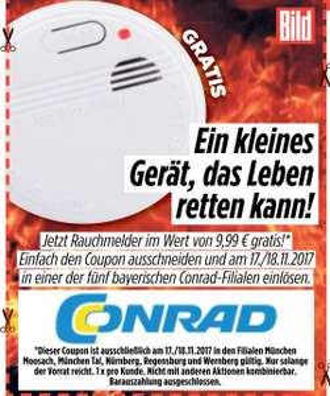 [Lokal] Gratis Rauchmelder / Conrad Bayern
