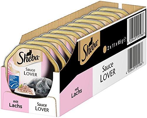 [Blitz-Angebot] Sheba Katzenfutter Sauce Lover mit Lachs / Spéciale Hühnchen / Finesse Mousse / Diverse andere Sorten (22 x 85g)