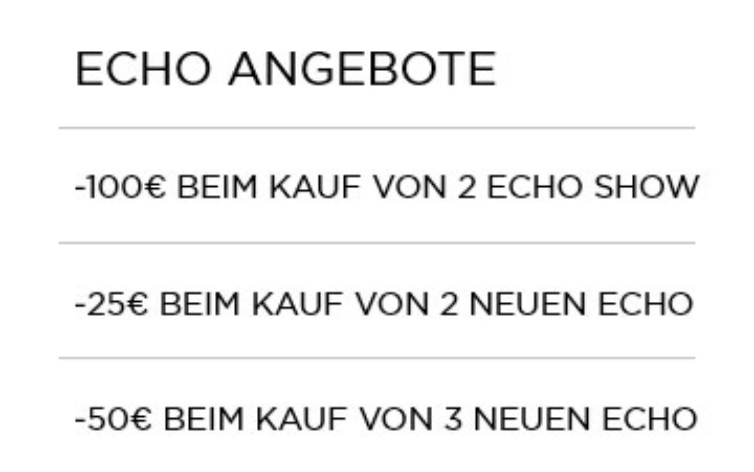 (Berlin) Beim Kauf von zwei Echo Show 100€ sparen