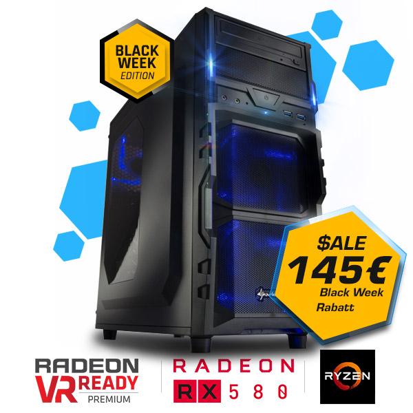 Gaming-PC: Ryzen 5-1600 + RX580 8GB + 16GB RAM + 275GB SSD