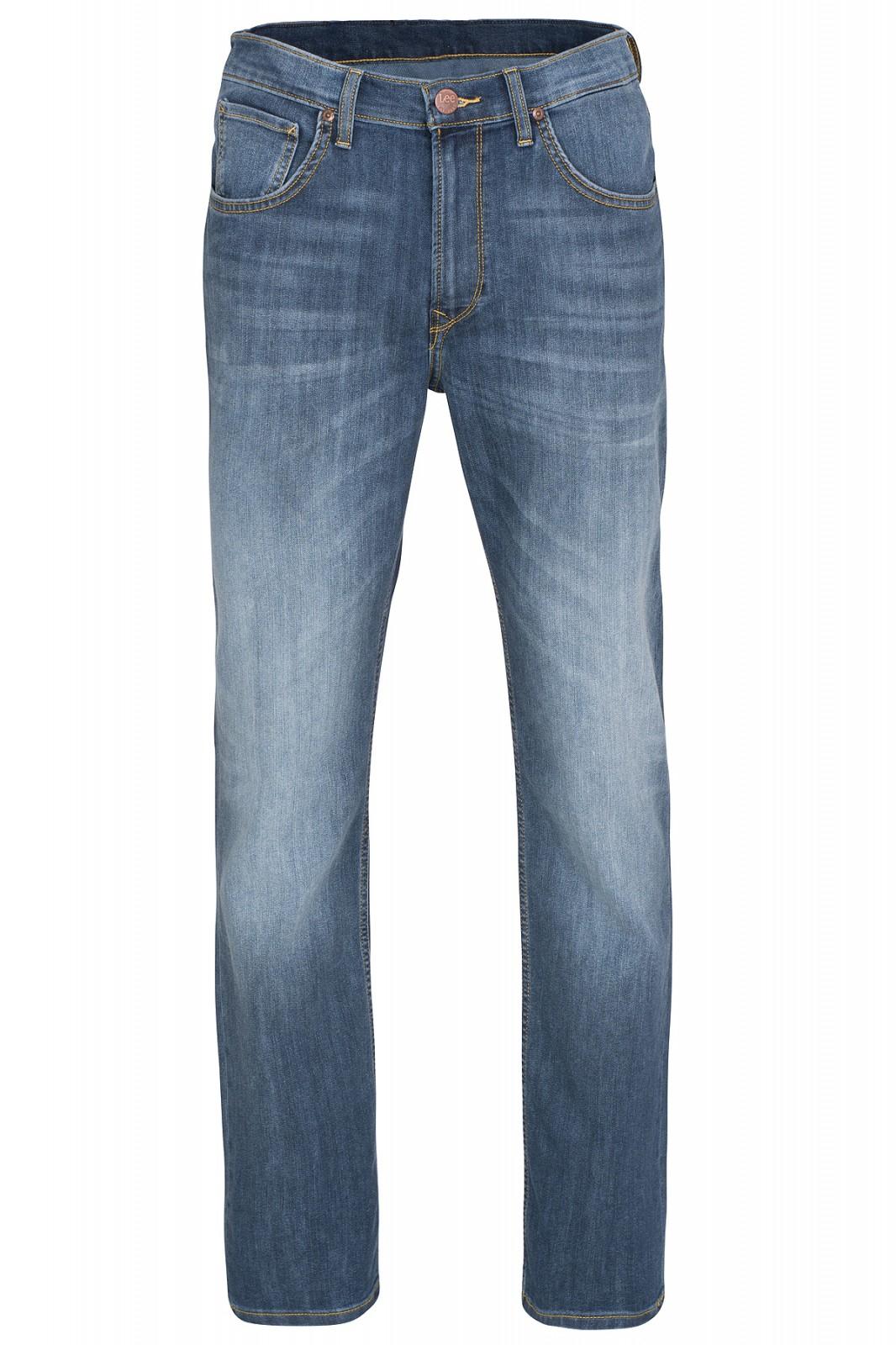 Lee Brooklyn Straight Herren Jeans Blau mit 5 Taschen