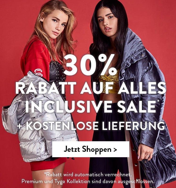 30%/45% auf (fast) Alles bei Boohoo (auch Sale) - nur heute + ggf. 14% Shoop Cashback + 10€ Amazon Gutschein