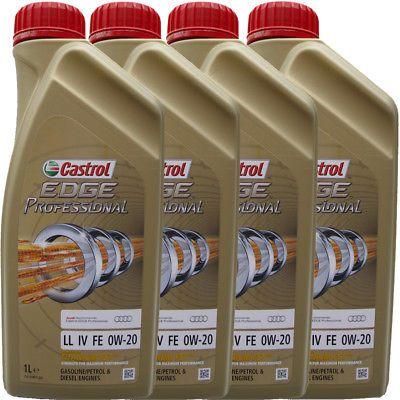 4X1 Liter 0W-20 Castrol EDGE PROFESSIONAL LL IV FE VW 508 00 509 00 LONGLIFE 4