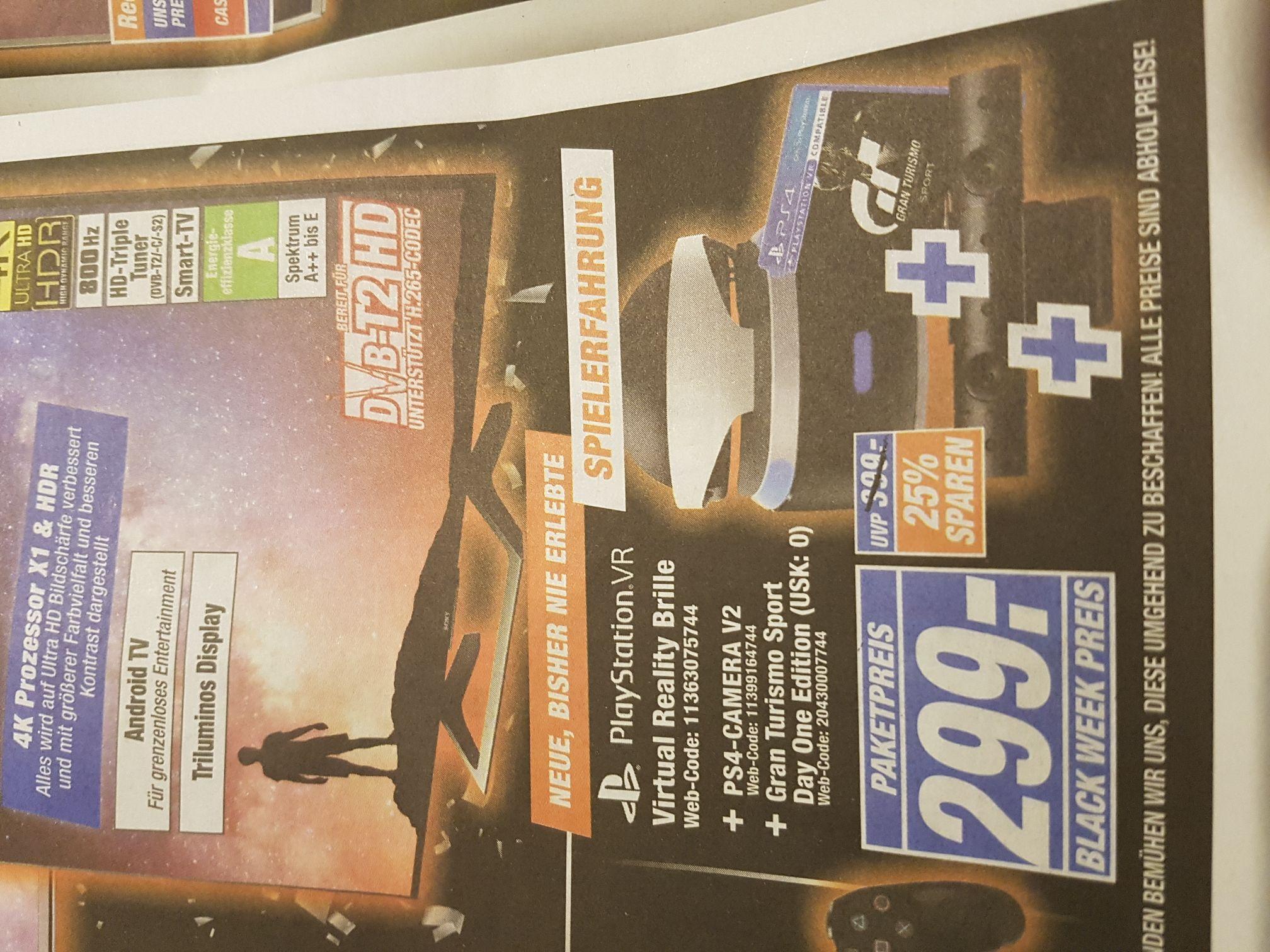 Expert Black Weeks: PSVR + PS4 Camera + GT Sport (Day one)
