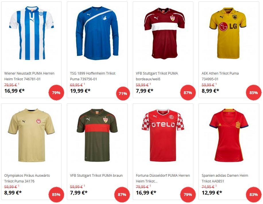 [SportSpar] Fußball Trikots ab 7,99€