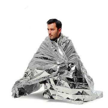 Emergency Blanket, Rettungsdecke silber 210 x 130 cm *NOCH GÜNSTIGER*