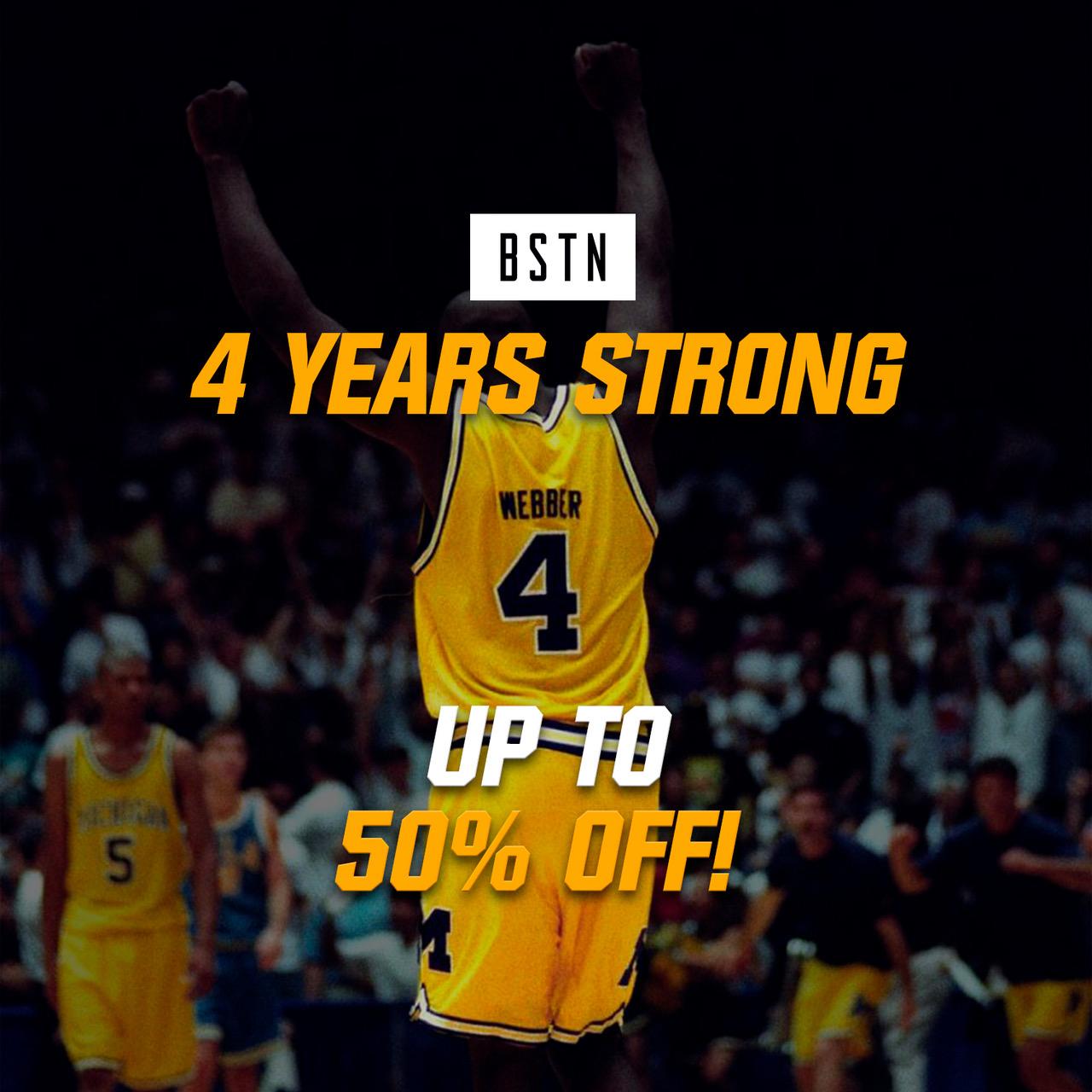 4 Jahre BSTN - bis zu 50% Rabatt auf adidas, Puma, Reebok, Norse Projects usw. - nur 24h lang!