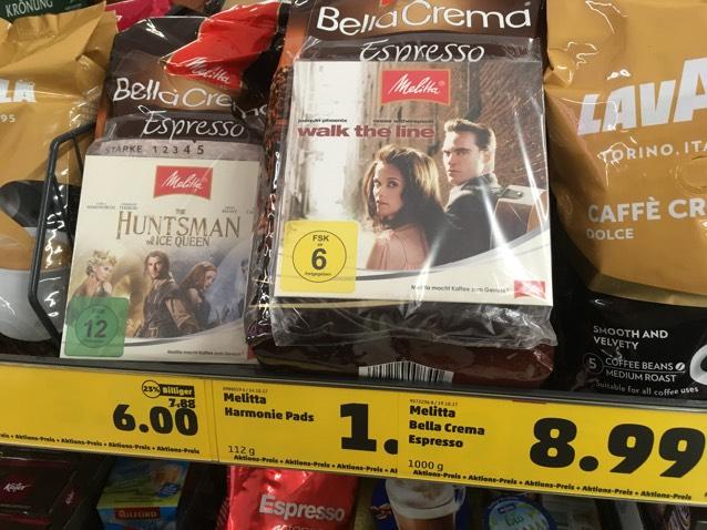[Penny, evtl lokal HH?] Melitta Bella Crema mit Film für 6,49€