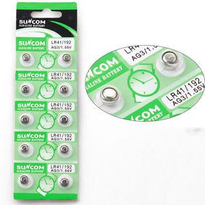 [ebay] 10x Knopfzellen AG3 LR41 192 Alkaline Uhrenbatterien Münze Zelle Batterie für 1,- € inkl. Versand
