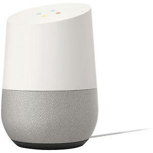 GOOGLE Home, Sprachgesteuerter Lautsprecher, Weiß/Schiefer [ebay Plus Saturn]