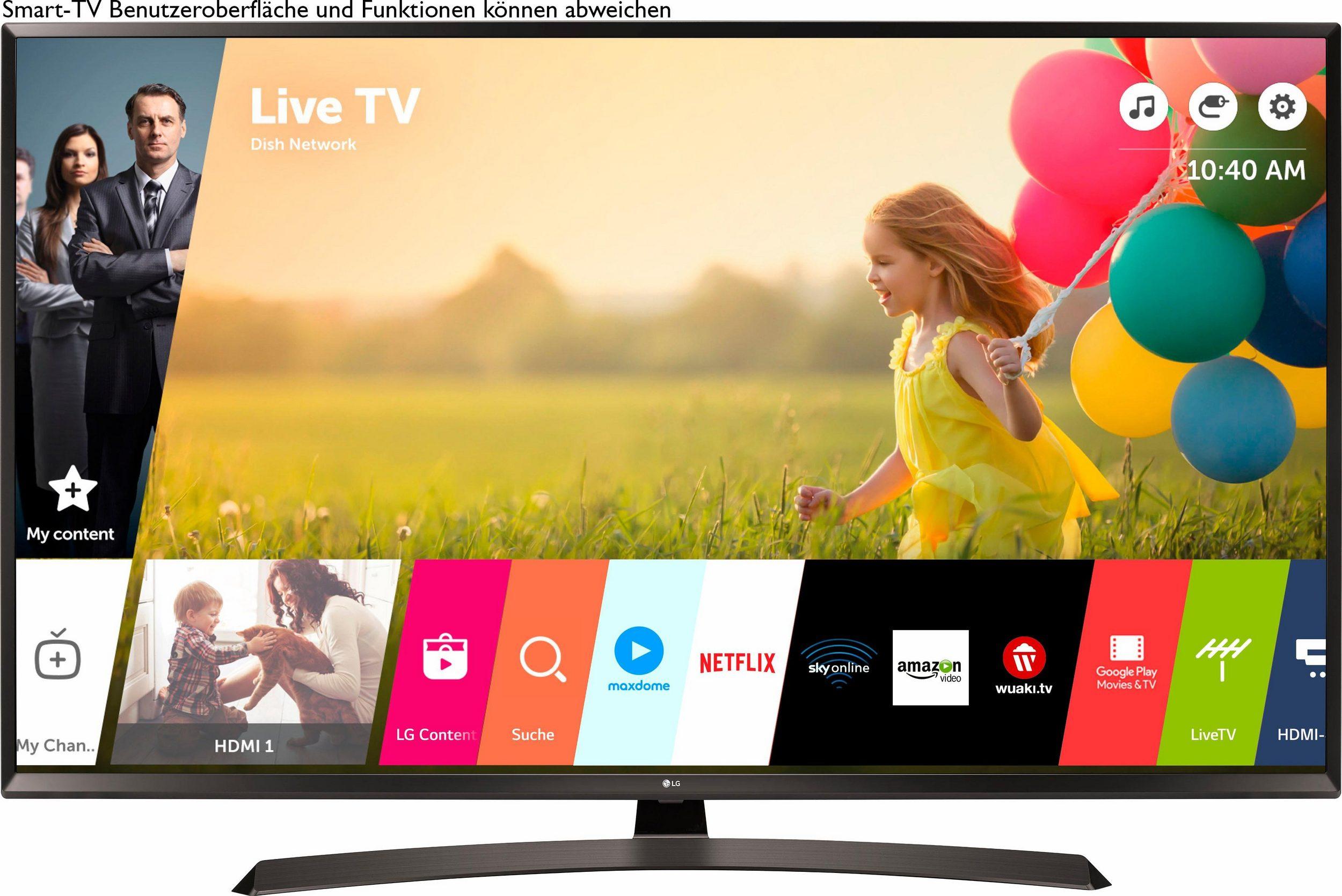 [Lokal Medimax Mundsburg] LG 65UJ634V | 65 Zoll / 164cm (65'' UHD, HDR10+HLG(8-Bit+FRC), Smart TV, webOS, USB-Recording, HbbTV, Integrierter Triple Tuner (DVB-T2 HD/S2/C), PMI 1600, WLAN, DLNA, 3x HDMI, 2x USB, CI+ Modul-Schacht)