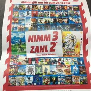 Media Markt Nimm 3 Zahl 2 Aktion (Lokal)