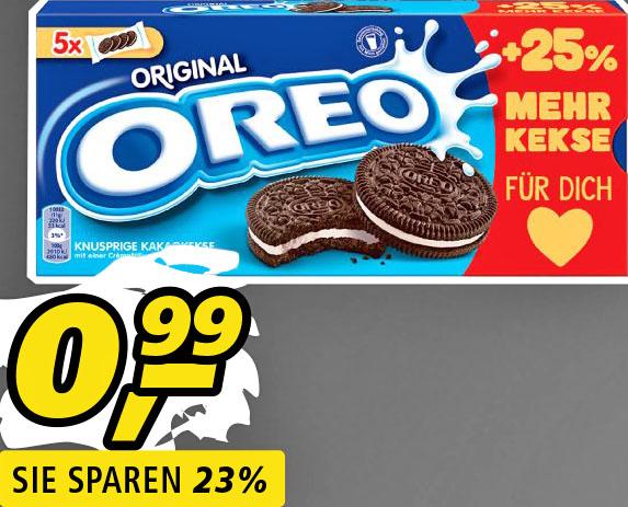 Oreo Doppelkeks, die sehr große 220g Packung nur 99 Cent [Real]