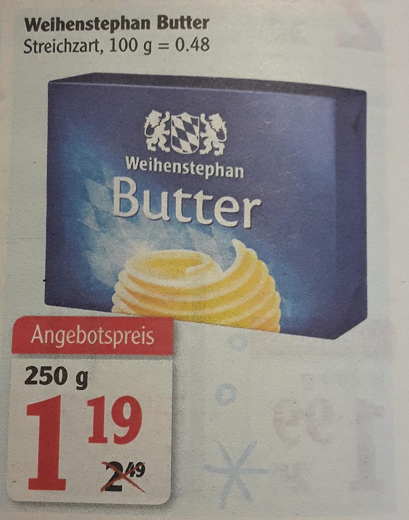 [Lokal] Globus Losheim - Weihenstephan Butter 250g für 1,19 Euro
