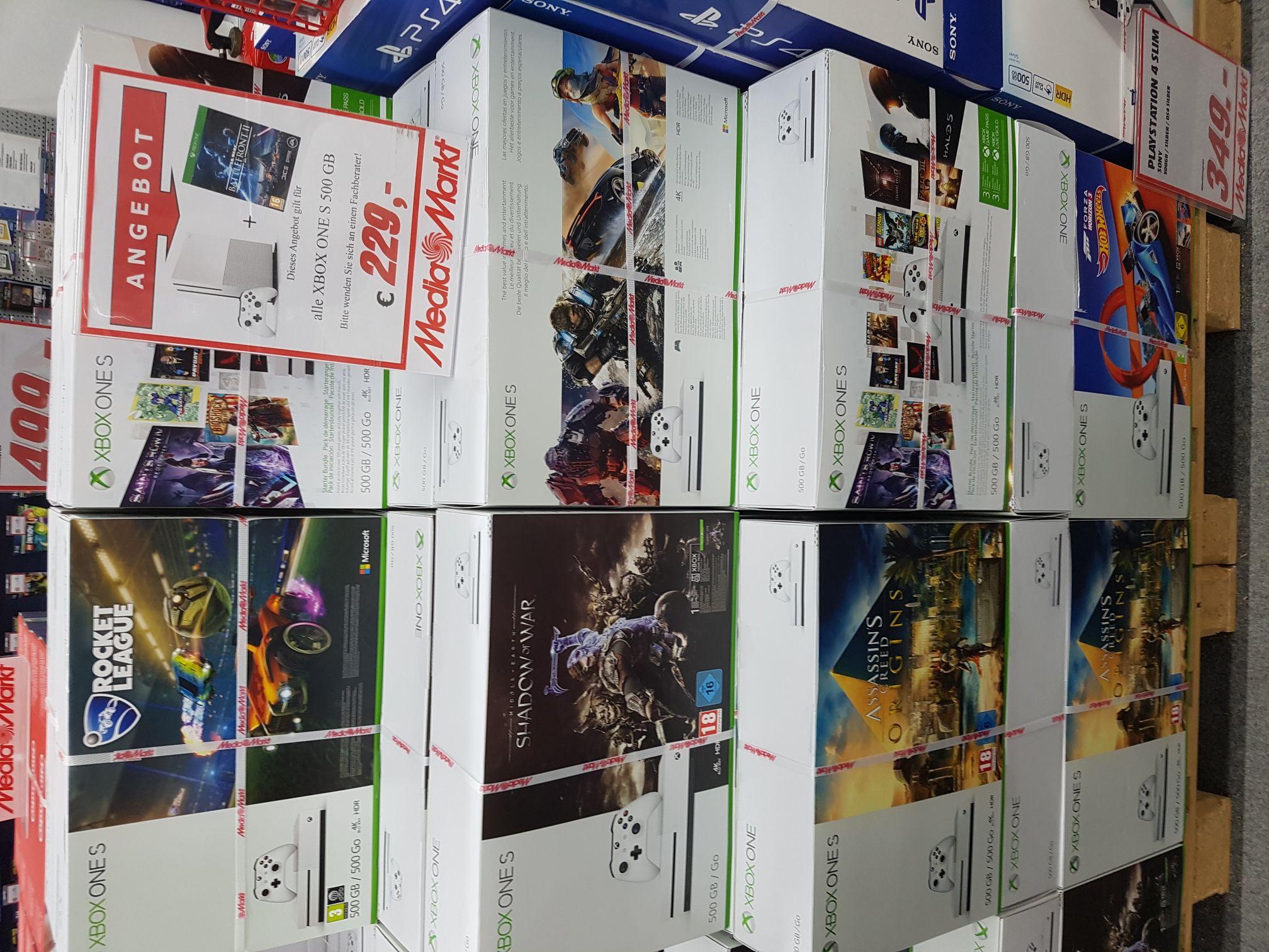 Lokal (MediaMarkt - Pasing Arcaden - München) Jedes XBox One S 500GB Konsolenbundle + Star Wars Battlefront