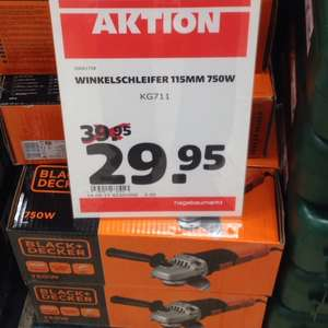 [Lokal Bad Oldesloe Hagebau] Winkelschleifer Black & Decker KG 711