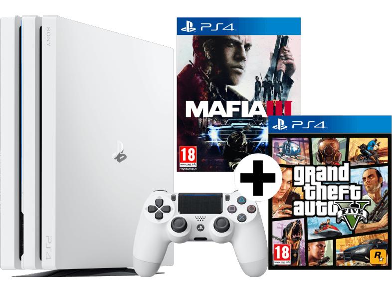 [MediaMarkt.at] Sony PlayStation 4 Pro 1TB weiß (CUH-7000) inkl. GTA V + MAFIA III