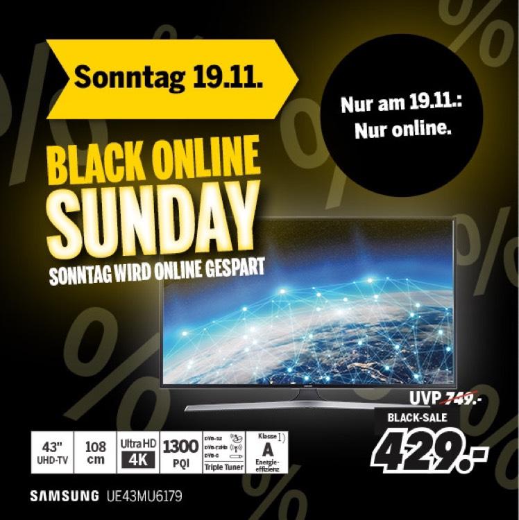 Samsung UE43MU6179 bei Medimax Online nur Sonntag