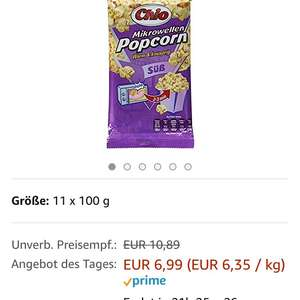Tagesangebot Amazon CHIO Popcorn 11 er Pack oder Chips