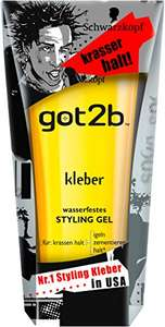 [Amazon Prime only] Got2b kleber wasserfestes STYLING GEL, 3er Pack (3 x 150 ml) EUR 1,46 / Tube