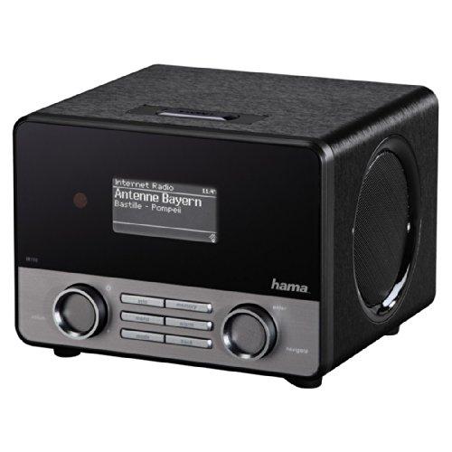 """[Amazon Tagesdeal]  Hama Internetradio """"IR110M"""" (WLAN/LAN, Fernbedienung, USB-Anschluss mit Lade- und Wiedergabefunktion, Weck- und Wifi-Streamingfunktion, Multiroom, gratis Radio App), schwarz von Hama"""