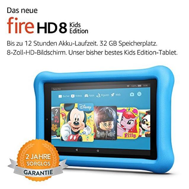 Das neue Fire HD 8 Kids Edition-Tablet, 20,3 cm (8 Zoll) HD Display, 32 GB, blaue kindgerechte Hülle von Amazon