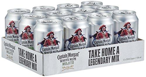(Amazon) (Blitz-Deal) Captain Morgan White Rum Mojito (12x 0.33 l)  für 22,99€