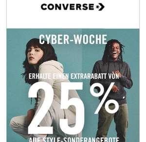 25% Rabatt on top auf den Sale bei Converse