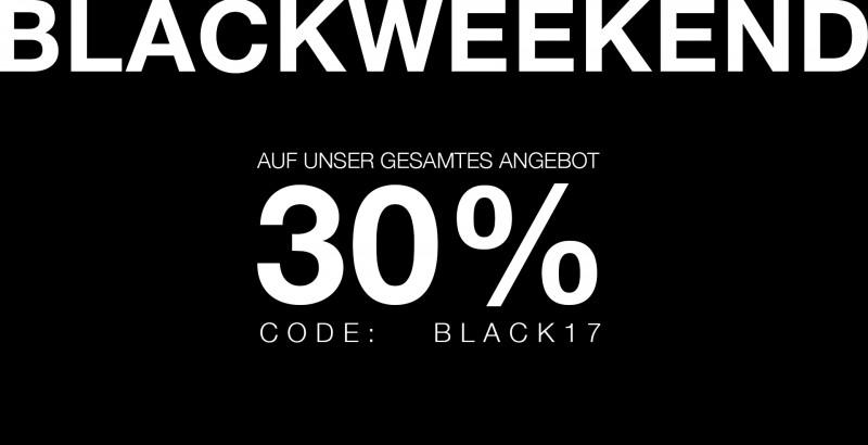 BLACKWEEKEND im ZUPPORT-Store - 30% auf das Gesamtsortiment