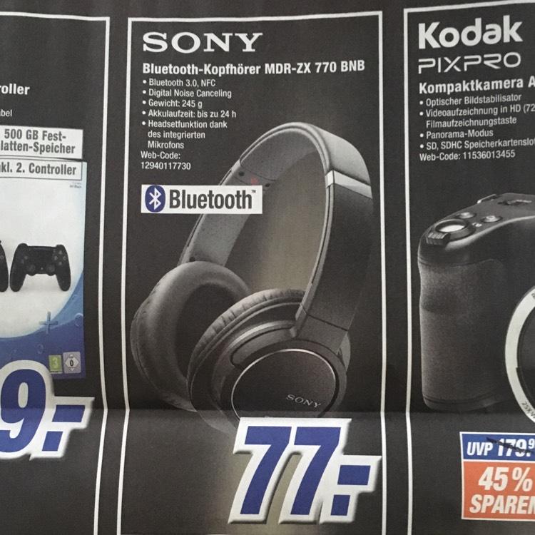 [Expert] [Black Week] Sony Bluetooth Kopfhörer MDR-ZX 770 BNB