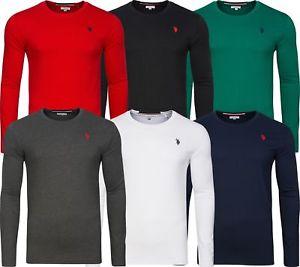 (ebay Plus) U.S. POLO ASSN. Langarmshirt aus reiner Baumwolle (Gr. S-2XL) in 6 Farben