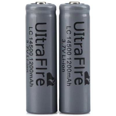 2x UltraFire LC 14500 1200 mAh 3.7V Li-Ion Akku - je Anzahl bis zu 0,28€ Versand