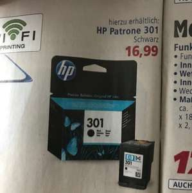 HP Patrone 301 bei Real für 16,99€