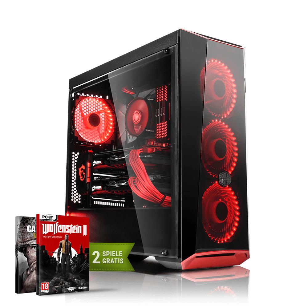 Gaming PC mit Ryzen 5 1600, Palit Geforce 1060 6GB, 16GB RAM, 250GB SSD, 1TB HDD, Asus Prime B350M-A + 2 Spiele gratis für 899 Euro