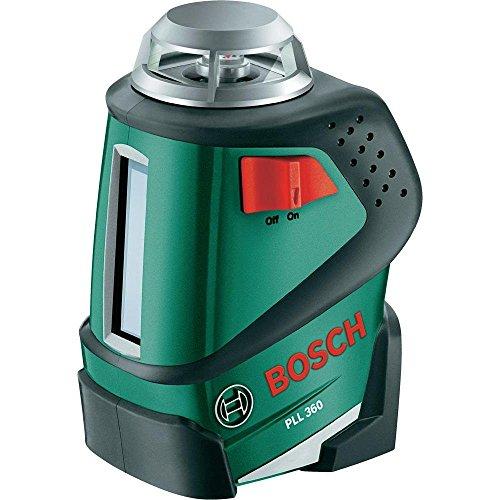 [Amazon Blitzangebote] Bosch Linienlaser PLL 360 Set (Stativ, Halterung, 4x AA-Batterien, Schutzasche, Arbeitsbereich 20 m, Messgenauigkeit ± 0,4 mm/m)