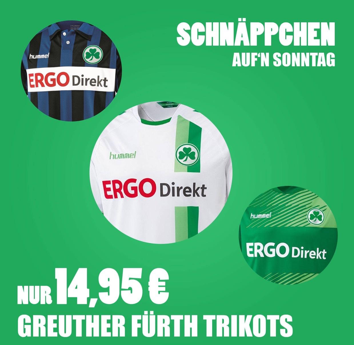 Greuther Fürth Trikot für 14,95 ab 75 € Versandkostenfrei