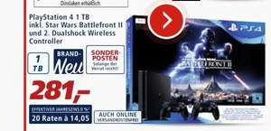PlayStation 4 1TB inkl.Star Wars BFII und 2 DualWirelessController